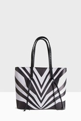 Elena Ghisellini Graphic Lines Shopper Black
