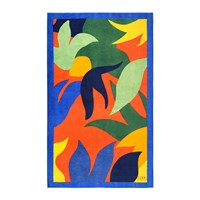 Olivier Desforges Abstract Multicolour Beach Towel