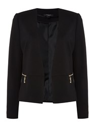 Therapy Maya Cropped Ponte Jacket Black