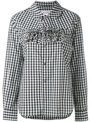 Comme Des Garcons Girl Frilled Gingham Shirt Women Cotton L Black