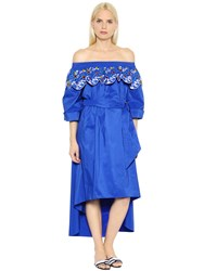 Peter Pilotto Off The Shoulder Cotton Taffeta Dress