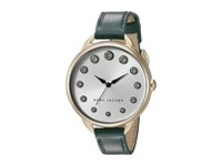 Marc Jacobs Betty Leather Three Hand Watch Green Gold Tone Watches