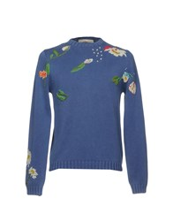 Private Lives Knitwear Jumpers Slate Blue