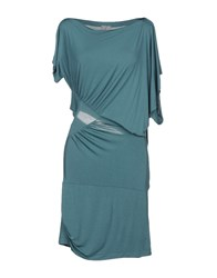 Malloni Short Dresses Green