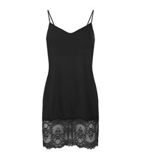 Wacoal Chrystalle Lace Trim Chemise Female Black