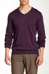 Perry Ellis Double V Neck Sweater Purple