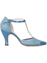Repetto T Bar Pumps Blue