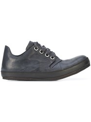 A Diciannoveventitre Casual Lace Up Sneakers Horse Leather Black