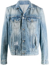 Unravel Project Logo Print Bleached Effect Jacket 60
