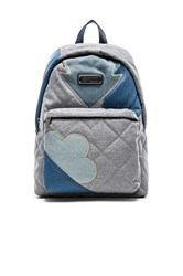 Marc By Marc Jacobs Crosby Quilt Denim Backpack Blue