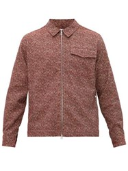 Schnayderman's Point Collar Cotton Blend Overshirt Burgundy