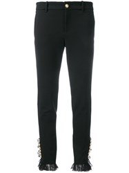 Gucci Embellished Button Trousers Black