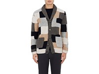 Barena Venezia Men's Patchwork Wool Cardigan No Color