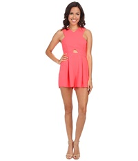 Minkpink Hugs N Kisses Playsuit Neon Coral Women's Jumpsuit And Rompers One Piece Orange