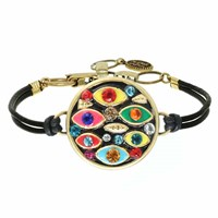 Michal Golan Jewelry Multi Color Eye Bracelet