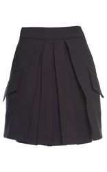 Antonio Berardi Pleated Mini Skirt Black