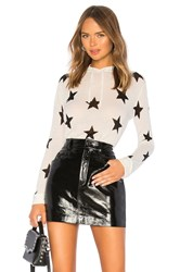 Central Park West Star Hoodie White