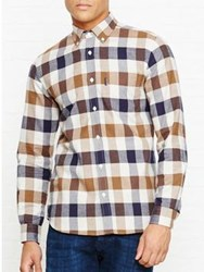Aquascutum London Marcus Large Scale Ls Check Shirt Tan
