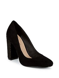 Saks Fifth Avenue Geometrical Suede Pumps Black