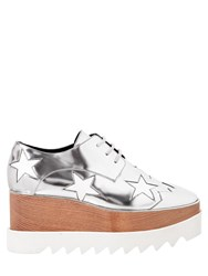 Stella Mccartney 75Mm Elyse Faux Metallic Leather Wedges