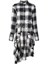 Haculla Signature Woven Checked Shirt Dress Black