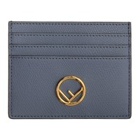Fendi Blue F Is Card Holder