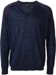 Paul Smith V Neck Sweater Blue