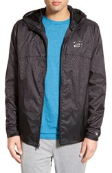 Men's Rvca 'Bj Penn' Colorblock Hooded Jacket Bpl Black Palms