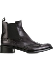 Church's Slip On Ankle Boots With Brogue Detailing Grey