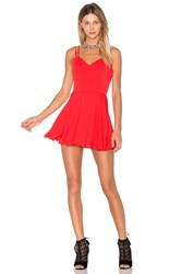 Amanda Uprichard Marie Mini Dress Red