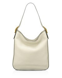 Anne Klein Jackie Leather Hobo Stone Gold