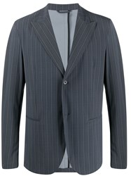 Hydrogen Fitted Pinstriped Blazer Grey