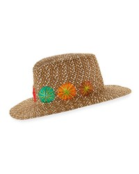 Eric Javits Zanzibar Packable Squishee Sun Fedora Hat Brown