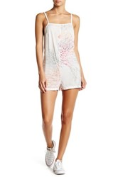 Obey Plastic Isle Playsuit White