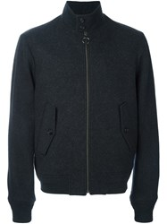 Z Zegna Zipped Bomber Jacket Grey