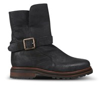 H Shoes By Hudson Women's Tatham Calf Leather Buckle Boots Black
