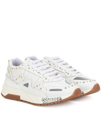 Versace Achilles Leather Sneakers White