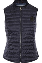 Cavalleria Toscana Stretch Jersey Trimmed Quilted Shell Down Gilet Midnight Blue