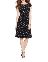Lauren Ralph Lauren Petite Polka Dot Jersey Dress