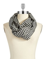 Lord And Taylor Houndstooth Loop Scarf Black