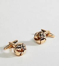 Designb Knot Cufflinks In Gold Exclusive To Asos