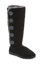 Women's Muk Luks 'Malena' Sweater Knit Boot Black Fabric