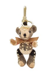 Burberry Shoes And Accessories Stud Embellished Thomas Bear Cashmere Key Charm Multicolor