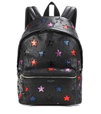 Saint Laurent City California Small Leather Backpack Black