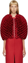 Junya Watanabe Red Heart Lattice Shrug