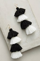 Anthropologie Berry Ombre Drop Earrings Black