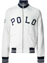 Polo Ralph Lauren Logo Zipped Cardigan White