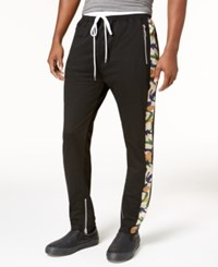 American Stitch Men's Side Stripe Track Pants Blk Camo