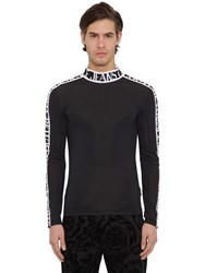 Versace Logo Tape Techno Sweater Black