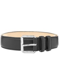 A.P.C. Classic Paris Grain Leather Belt Black